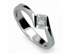 Briliantový prsten Danfil DF1977, materiál bílé zlato 585/1000, 1x briliant SI1/G = 0.400 ct, váha: