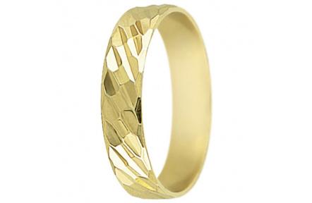 Snubní prsteny kolekce SP5-F, materiál žluté zlato 585/1000 , váha: u velikosti 54mm - 3.30g