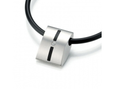 Ocelový přívěsek s diamantem TeNo Basix 044-2614-D24