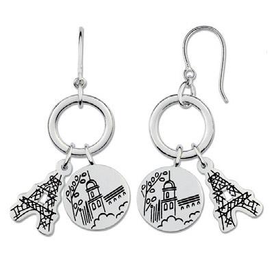 Stříbrné náušnice Cacharel CAW148, materiál stříbro 925/1000, váha: 13.50g