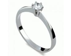 Briliantový prsten Danfil DF1877, materiál bílé zlato 585/1000, 1x briliant SI1/G = 0.160 ct, váha: