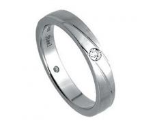 Ocelový prsten s kamínkem RSS239-CZ