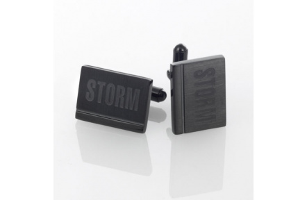 Manžetové knoflíčky Storm Niki Slate