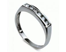 Briliantový prsten Danfil DF1863, materiál bílé zlato 585/1000, 6x briliant SI1/G = 0.192 ct, váha: