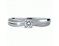 Briliantový prsten Danfil DF1906, materiál bílé zlato 585/1000, 1x briliant SI1/G = 1.130 ct, váha: