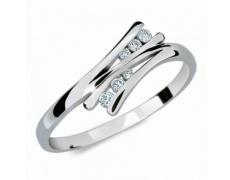 Briliantový prsten Danfil DF1950, materiál bílé zlato 585/1000, 6x briliant SI1/G = 0.075 ct, váha: