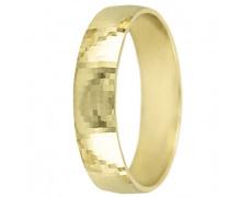 Snubní prsteny kolekce A17, materiál žluté zlato 585/1000 , váha: u velikosti 54mm - 3.30g