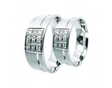 Snubní prsteny Lucie Gold Charlotte S-204, materiál bílé zlato 585/1000, zirkon, váha: průměrná 10.0