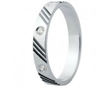 Snubní prsteny kolekce ELISKA_28, materiál bílé zlato 585/1000, ruthenium, zirkon, váha: u velikosti