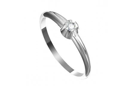 Zásnubní prsten s briliantem Leonka  010, materiál bílé zlato 585/1000, briliant SI1/G - 2.25 mm, vá