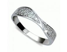 Briliantový prsten Danfil DF1949, materiál bílé zlato 585/1000, 26x briliant SI1/G = 0.360 ct, váha: