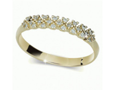 Briliantový prsten Danfil DF2059, materiál žluté zlato 585/1000, 25x briliant SI1/G = 0.125 ct, váha