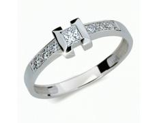 Briliantový prsten Danfil DF2062, materiál bílé zlato 585/1000, 7x briliant SI1/G = 0.264 ct, váha: