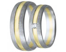 Snubní prsteny kolekce HARMONY20, materiál bílé, žluté zlato 585/1000, zirkon, váha: u velikosti 54m