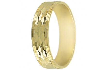 Snubní prsteny kolekce P2/G, materiál žluté zlato 585/1000 , váha: u velikosti 54mm - 2.40g