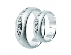 Snubní prsteny Lucie Gold Charlotte S-208, materiál bílé zlato 585/1000, zirkon, váha: průměrná 10.5