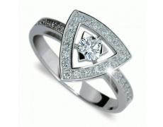 Briliantový prsten Danfil DF1970, materiál bílé zlato 585/1000, 31x briliant SI1/G = 0.438 ct, váha: