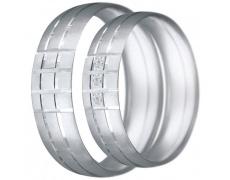 Snubní prsteny kolekce CLAUDIA11, materiál bílé zlato 585/1000, zirkon, váha: u velikosti 54mm - 6.2