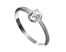 Zásnubní prsten s briliantem Leonka  008, materiál bílé zlato 585/1000, briliant SI1/G - 2.50mm, váh