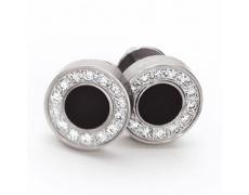 Náušnice s diamanty TeNo De Luxx 034-02P01-D15