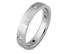 Ocelový prsten s kamínky RSS231-CZ
