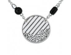 Stříbrný náhrdelník Cacharel COC196N42, materiál stříbro 925/1000, onyx, váha: 12.10g