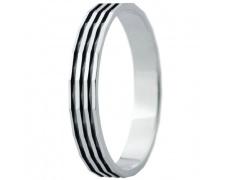 Snubní prsteny kolekce ELISKA_26, materiál bílé zlato 585/1000, ruthenium, váha: u velikosti 54mm -