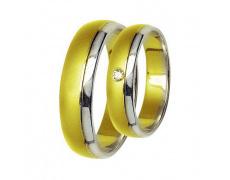 Snubní prsteny Lucie Gold Charlotte S-175, materiál bílé, žluté zlato 585/1000, zirkon, váha: průměr