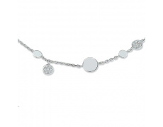 Zlatý náhrdelník Cacharel XC524GB3, materiál bílé zlato 585/1000, diamant-0.11 ct, váha: 4.80g