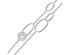 Stříbrný náramek Cacharel CSB116Z18, materiál stříbro 925/1000, zirkon, váha: 6.20g