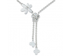 Stříbrný náhrdelník Cacharel CSC078Z40, materiál stříbro 925/1000, zirkon, váha: 5.20g