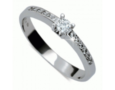 Briliantový prsten Danfil DF1917, materiál bílé zlato 585/1000, 13x briliant SI1/G = 0.158 ct, váha: