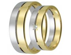Snubní prsteny kolekce HARMONY17, materiál bílé, žluté zlato 585/1000, váha: u velikosti 54mm - 5.70