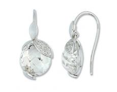 Zlaté náušnice Cacharel XD312GQB3, materiál bílé zlato 585/1000, křemen, diamant-0.08 ct, váha: 3.00