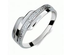 Briliantový prsten Danfil DF1844, materiál bílé zlato 585/1000, 3x briliant SI1/G = 0.018 ct, váha: