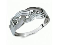 Briliantový prsten Danfil DF1848, materiál bílé zlato 585/1000, 3x briliant SI1/G = 0.038 ct, váha: