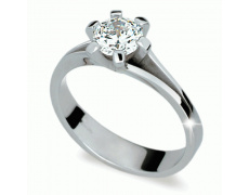 Briliantový prsten Danfil DF1878, materiál bílé zlato 585/1000, 1x briliant SI1/G = 1.250 ct, váha: