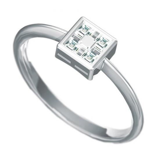 Zásnubní prsten Dianka 813, materiál bílé zlato 585/1000, 4 x zirkon 2x2mm, váha: u velikosti 54mm -