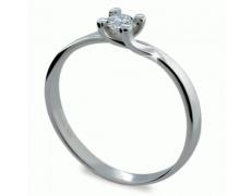 Briliantový prsten Danfil DF1855, materiál bílé zlato 585/1000, 1x briliant SI1/G = 0.206 ct, váha: