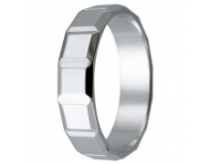 Snubní prsteny kolekce HARMONY4, materiál bílé zlato 585/1000, váha: u velikosti 54mm - 3.00g