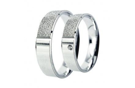Snubní prsteny Lucie Gold Charlotte S-218, materiál bílé zlato 585/1000, zirkon, váha: průměrná 7.60