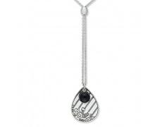 Stříbrný náhrdelník Cacharel COC197N40, materiál stříbro 925/1000, onyx, váha: 8.80g